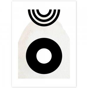Čiernobiely obraz - kruh