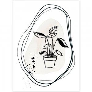 Moderný obraz - kvetináč