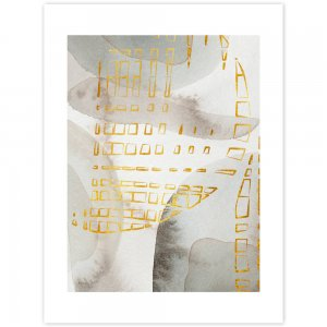 Obraz na stenu - zlatožlté tvary