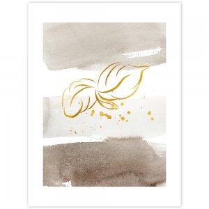 Obraz na stenu - zlatohnedý