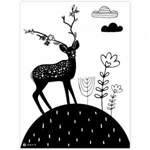 Obraz na stenu - Jeleň na kopci