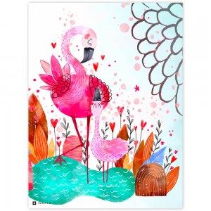 Obraz na stenu - Ružové plameniaky