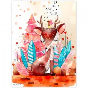 Obraz na stenu - Jelenček v rozprávkovom lese